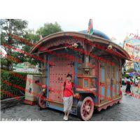 中国红中式移动实木售货亭 商品外卖亭,广场售卖摊车,售卖花车