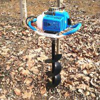 树木园林汽油挖坑机 绿化园林钻机