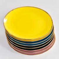北欧彩色陶瓷家用浅盘 摆盘饭盘餐具套装礼品批发定制