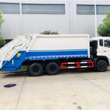东风天龙18方压缩垃圾车 后双桥压缩垃圾车多少钱 18吨垃圾车***售价