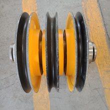 起重机钢丝绳滑轮组 _铸钢滑轮片_ 热轧滑轮