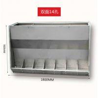 猪用不锈钢料槽猪用可调节食槽食槽系列