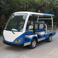 安步优品ABLQF090蓝白色承载约600公斤豪华款全顶五座场内平板四轮电动载货车搬运车电动运输车
