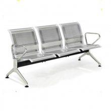 京好 三人位排椅 医院候诊椅输液椅休息联排公共不锈钢座椅机场椅等候椅C68-1