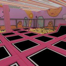 超级蹦床淘气堡厂家定制大型室内商场儿童蹦床组合游乐蹦蹦弹床蹦床公园