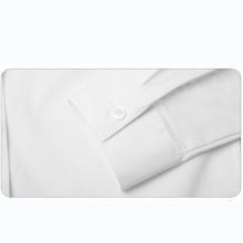 贵州女衬衣,订做行政夏装,商务衬衫定制,QDV-108T贵阳白色竖条纹天丝棉正规领韩版休闲长袖女衬衣