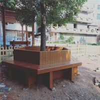 兰溪市政道路绿化仿木花箱 不易褪色的混凝土花池树围