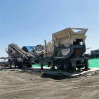 济南章丘石料破碎站设备价格 移动式拆迁石块破碎机