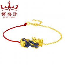 时尚新款情人节貔貅手链吉祥物红绳感温变色貔貅手链热销爆款