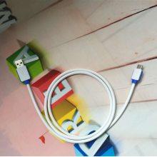 适用于iphone6/7数据线苹果手机充电线工厂批发定做USB彩色面条线