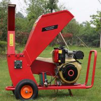 电动树枝粉碎机 大口径碎枝机 秸秆还田木材粉碎机