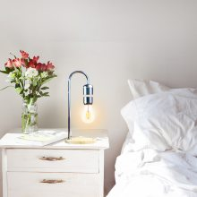 网红平衡悬浮灯复古台灯手机无线充电小夜灯定制LED台灯厂家批发