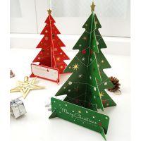 韩国文具批发 新款 创意 纸质 圣诞树
