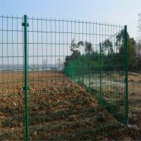 围墙钢丝网防护栏_绿色浸塑钢丝网围栏1.8*3米防腐蚀处理高速公路护栏网