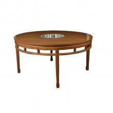 实木火锅台款式,电磁炉板式火锅桌,包房火锅大圆桌