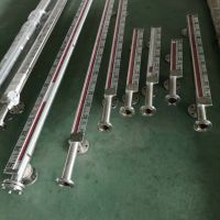 内衬四氟磁性液位计UHZ-663-BS-500-AN防爆铝合金面板磁浮式液位计耦合
