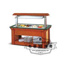 直销自助餐台 布菲专业定制木质箱体冷热自助餐台沙拉保鲜柜 自助餐设备