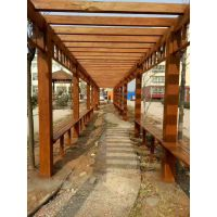 红梢木木栈道栏杆护栏走廊亭子 红梢木板材车圆立柱异型加工厂家