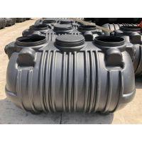 新疆三格一体式PE塑料化粪池1.5/2/3立方一次成型抗压不渗漏