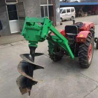 苗木园林绿化工程大型拖拉机挖坑机