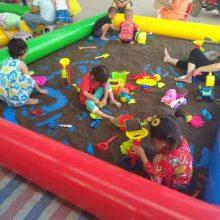 充气玩具沙池成套购买 彩色户外沙滩池怎么订购 游乐园玩具充气沙池多少钱