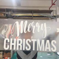 深圳新款圣诞节系列 客厅卧室橱窗玻璃墙贴 可移除装饰贴纸多少钱一平方