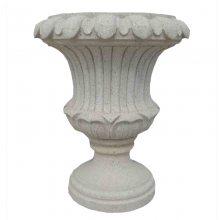 石膏石料花钵好于陶罐花钵组合 人造砂岩花钵素描图 黄岗岩花钵的线脚