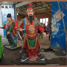 托塔李天王佛像托塔李天王神像图片河南玻璃钢雕塑制作