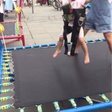小型迷你蹦极跳跳床 儿童手动方形蹦极乐园 钢架折叠蹦极床弹跳床