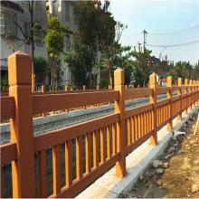 水泥仿木护栏桥梁栏杆 景观栏杆模具花箱 葡萄廊架花架座椅垃圾桶