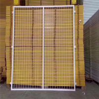 黄色车间隔离网 可移动护栏网 浸塑铁丝防护网