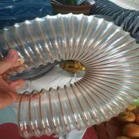 大口径PU聚氨酯风管,通风除尘波纹管,PU钢丝伸缩管500mm