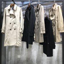 英伦时尚秋装库存品牌折扣女装风衣大衣|广州服装批发市场女装拿货渠道