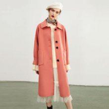 抖音爆款好货 第五朵双面羊绒大衣 简约时尚 版型宽松 出街必备 高端品牌女装折扣批发