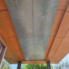 粉末喷涂外墙镀锌铁板-银灰色外墙幕墙板-冲孔镀锌铁板生产厂家