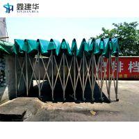 望都县带轮伸缩式推拉蓬移动雨篷_优质雨棚布厂家加工定做
