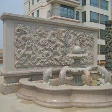 石雕浮雕影壁墙 广场校园文化浮雕墙 山水花草浮雕壁画多少钱