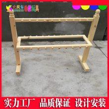 南宁大风车厂定制儿童实木口杯架 区角组合柜子幼儿家具