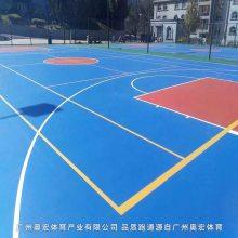 塑胶篮球场施工流程 硅PU篮球场施工流程