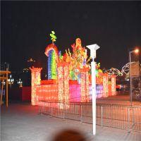 厂家批发定制创意卡通动画人物造型玻璃钢雕塑内透发光亮化公园绿地景观策划潍坊灯光节