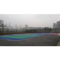 绵阳鸿瑞铠塑胶篮球场施工