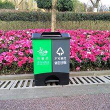 重庆40L分类垃圾桶厂家 双桶分类垃圾桶价格