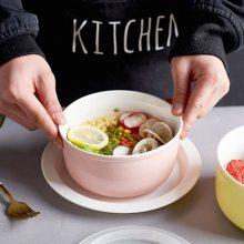 微波炉适用陶瓷保鲜碗三件套装保鲜密封盒饭盒泡面碗