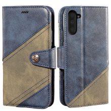 厂家货源直销三星note10拼色手机皮套翻盖插卡钱包多功能手机保护套