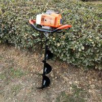 手推式地钻挖坑机 大棚立柱挖洞机 广告牌立杆机轻便款