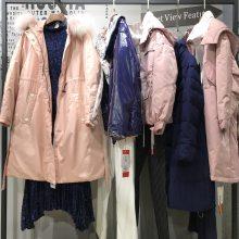 上海一线品牌折扣女装 个性19新款秋冬装 棉衣大衣 高性价比好货走份批发