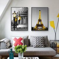 建筑风景装饰画客厅挂画摄影壁画工业风咖啡厅墙画沙发背景画