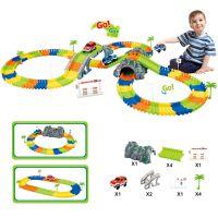 儿童拼装轨道车玩具 192pcs益智轨道配假山DIY搭建 跨境科教玩具