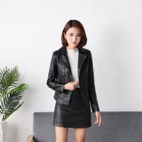 2018新款秋季韩版女装pu皮外套短款皮衣女休闲女士皮夹克厂家直销
