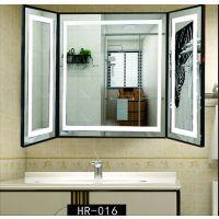 卫生间梳洗化妆浴室带灯光高清银镜子 卫浴厕所防雾LED壁挂智能镜